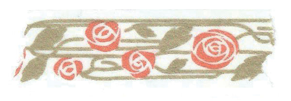 Coral Gold Rose Washi Tape