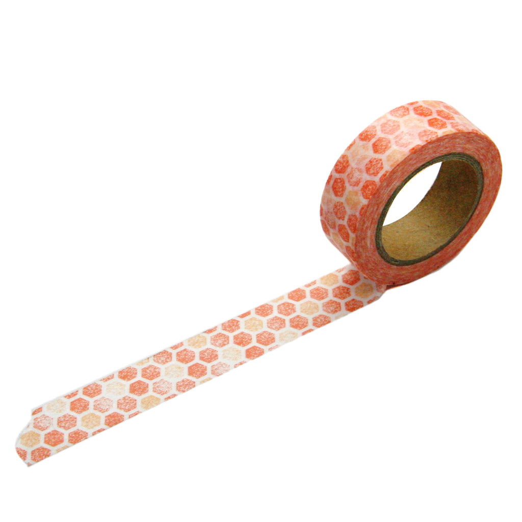 Coral Hexagon Washi Tape