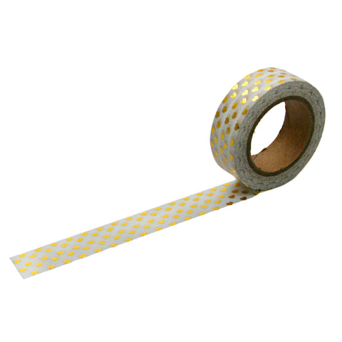 Gold Foil Mini Heart Washi Tape