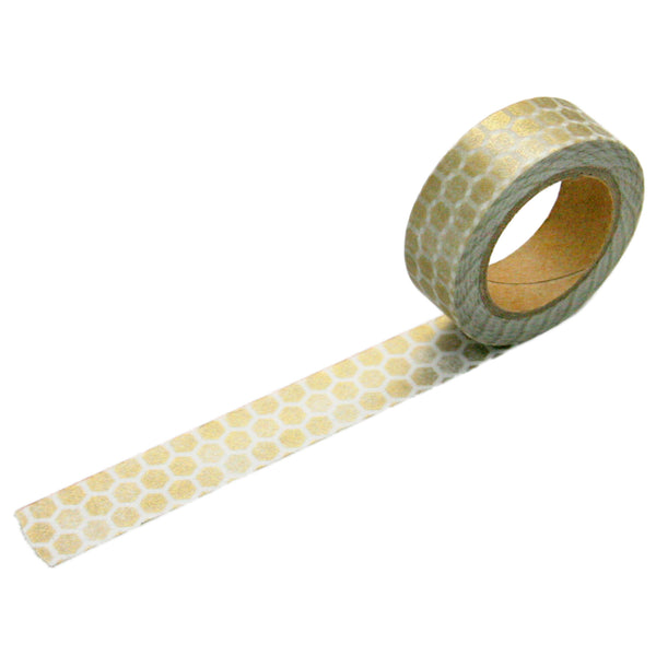 Gold Hex Washi Tape