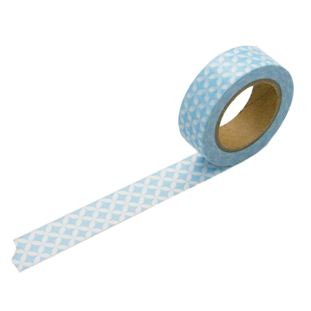 Blue Circle Pattern Washi Tape