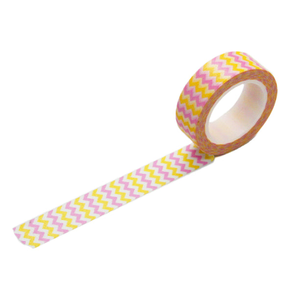 CLEARANCE, 75% OFF: Lavender Yellow Chevron Washi Tape