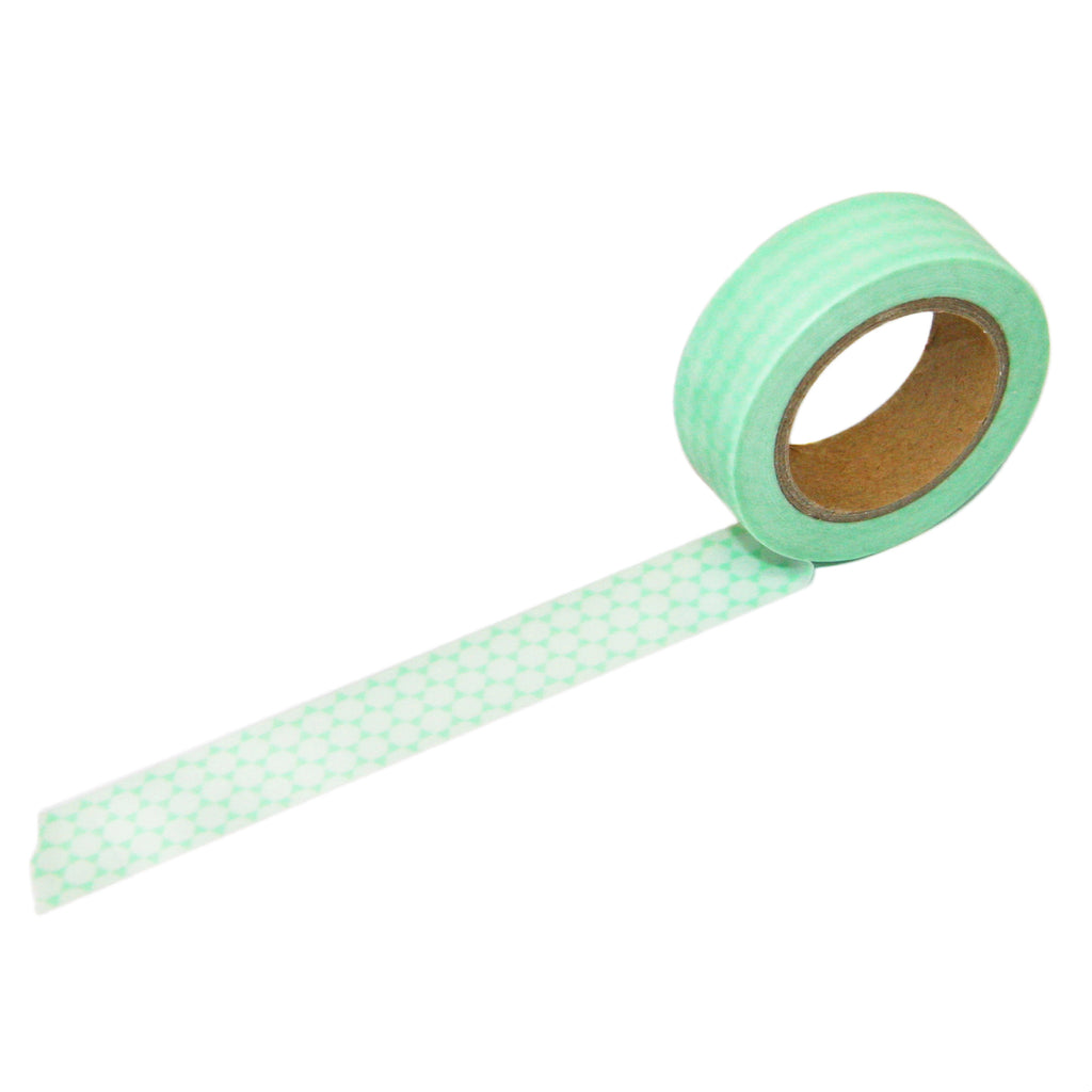 Mint Geometric Washi Tape