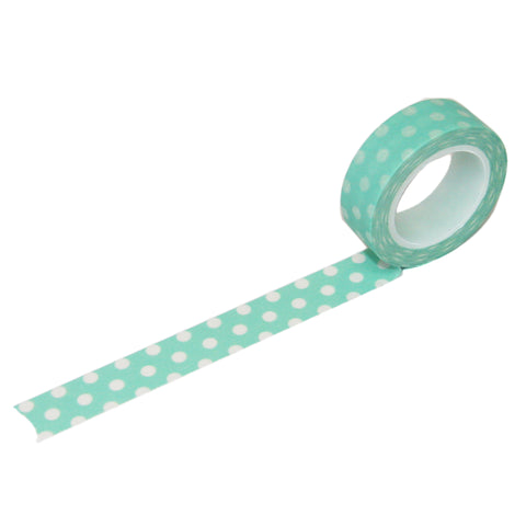 Mint with White Dot Washi Tape