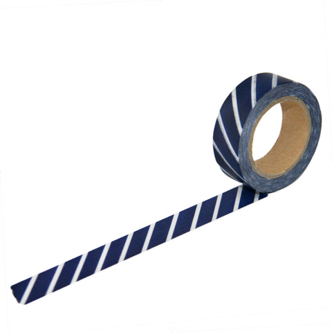 Navy Diagonal Stripe Washi Tape