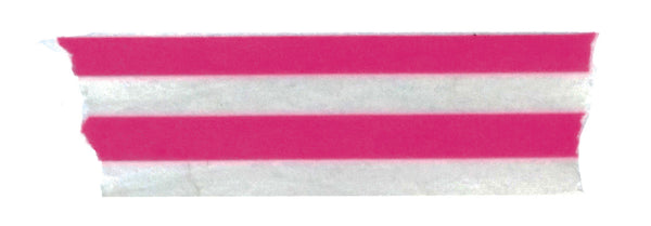 Neon Pink Vertical Stripe Washi Tape