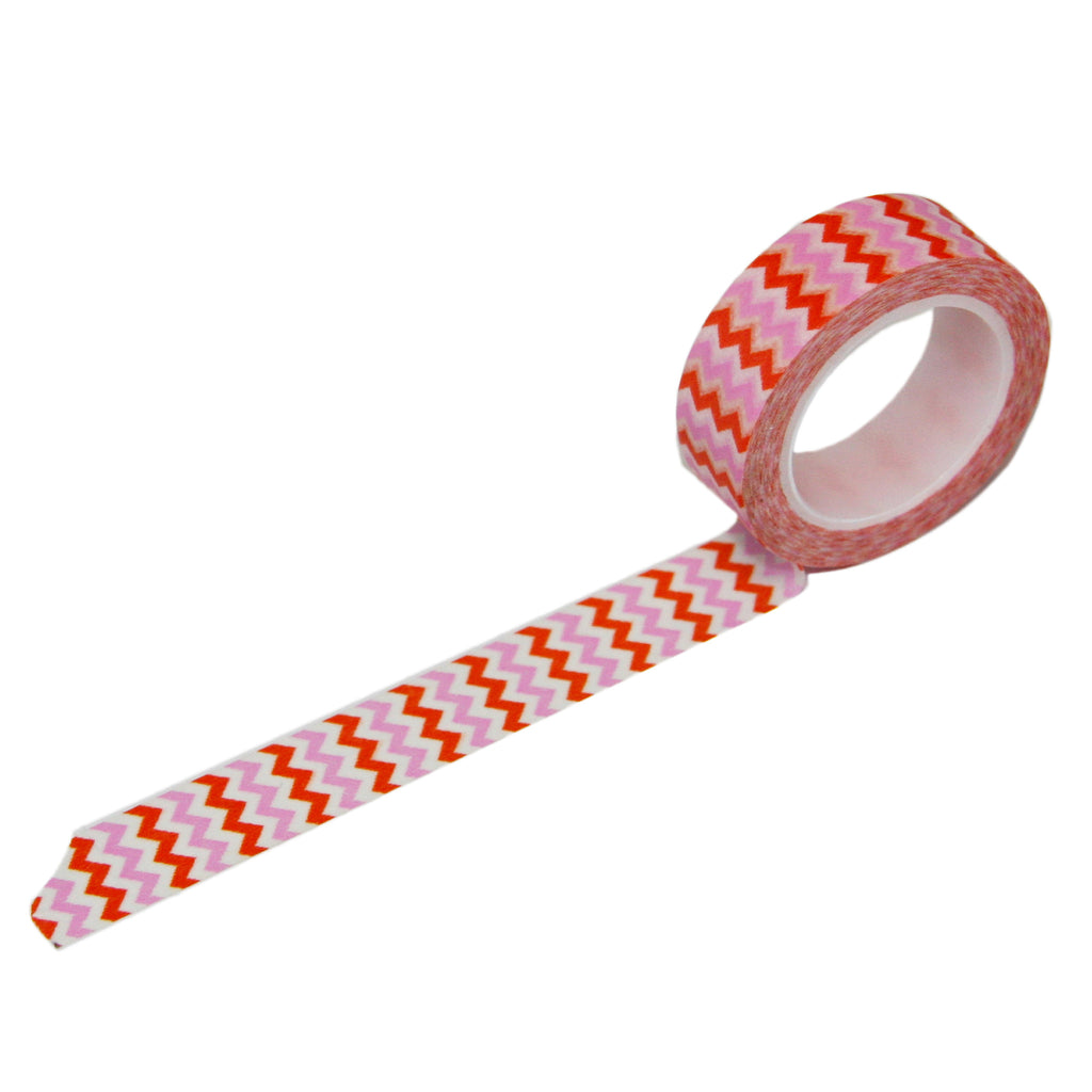 Pink Orange Chevron Washi Tape
