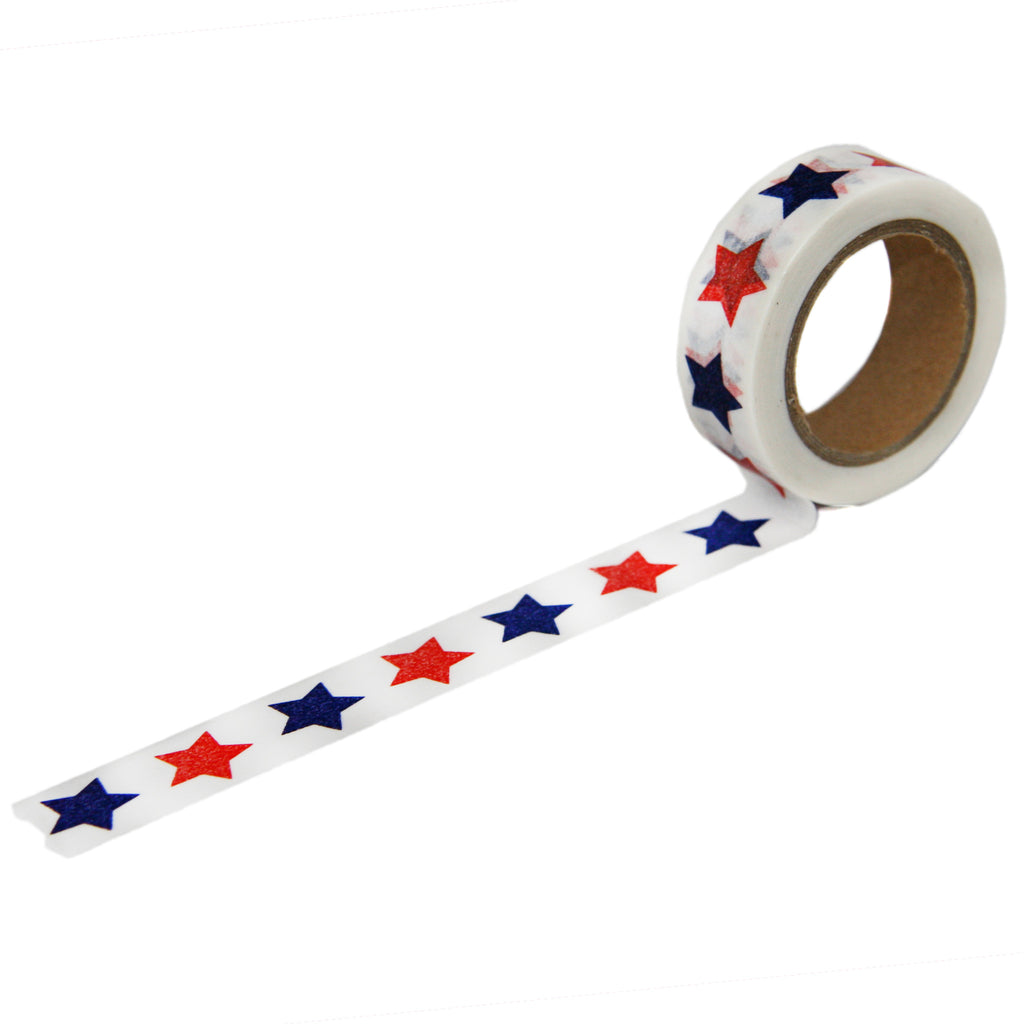 Star Washi Tape in Red and Navy