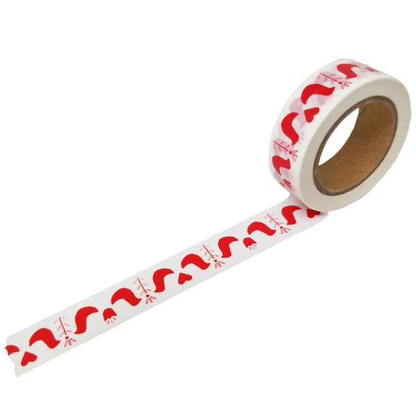 Red Modern Folk Bird Washi Tape