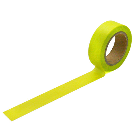 Solid Neon Yellow-Green Washi Tape