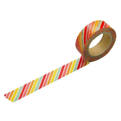 Tutti Frutti Diagonal Stripe Washi Tape