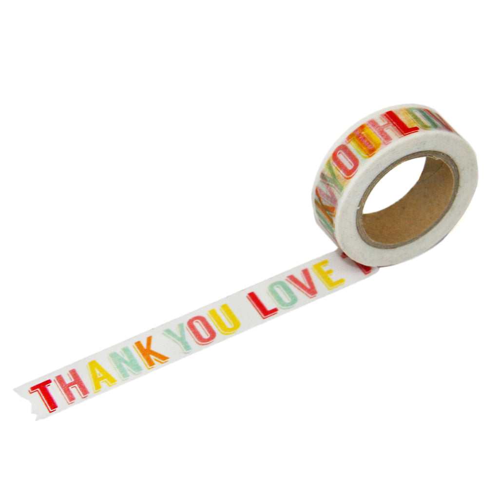 "Tutti Frutti ""Thank You Love"" Washi Tape"