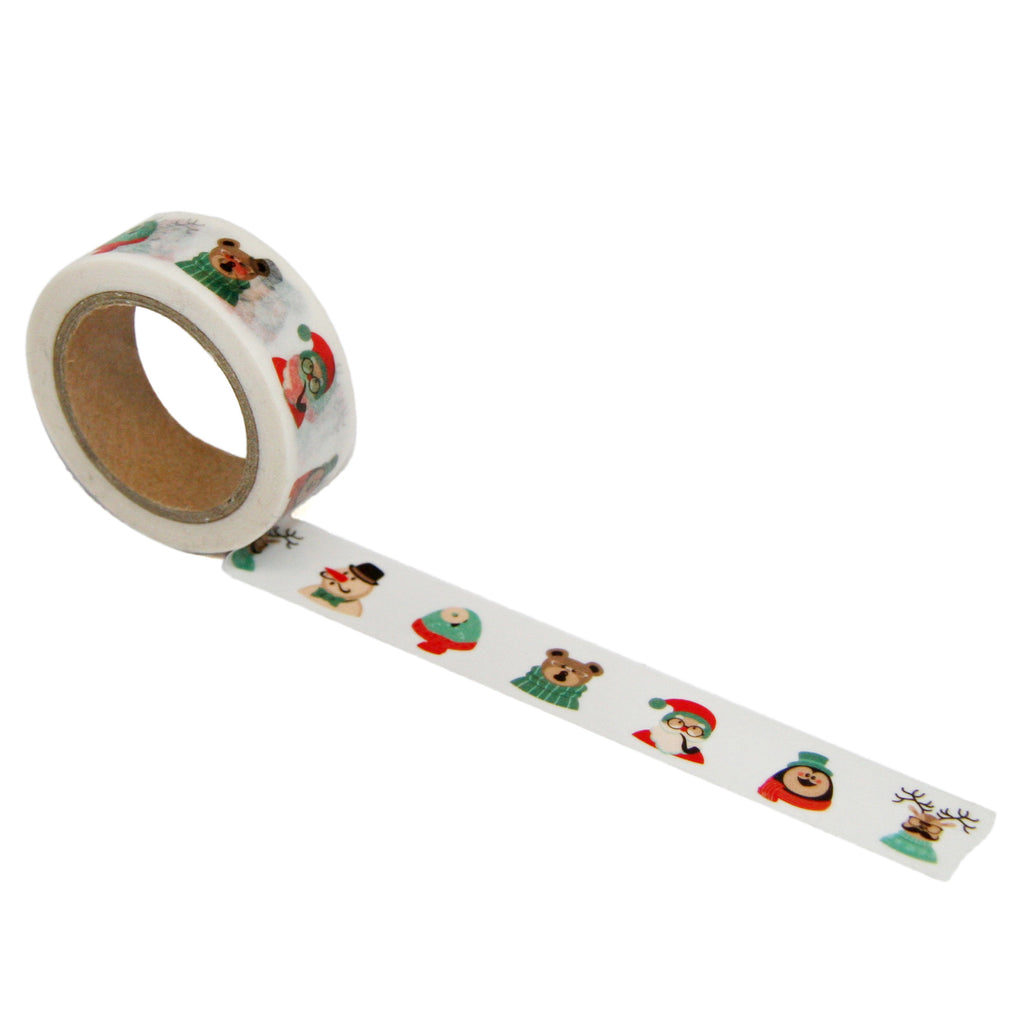 Winter Character Washi Tape