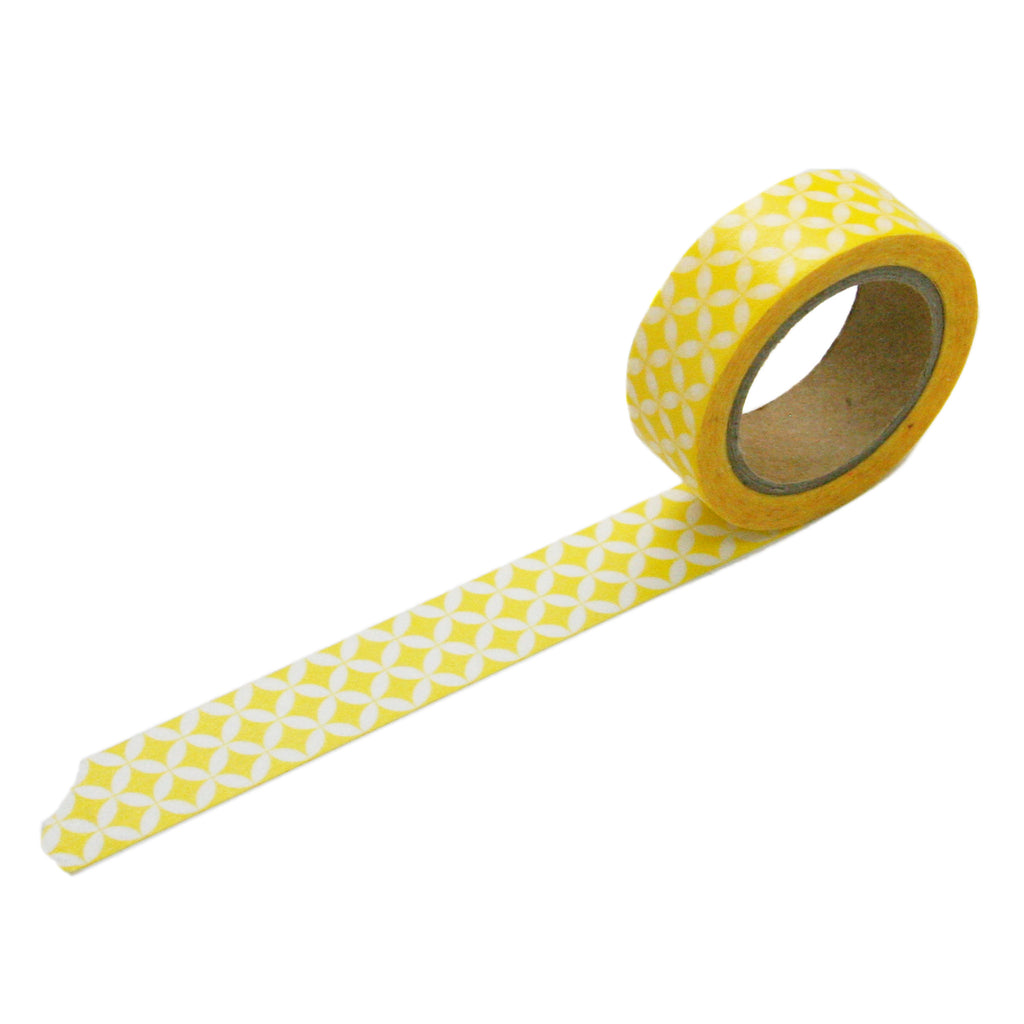 Yellow Circle Pattern Washi Tape