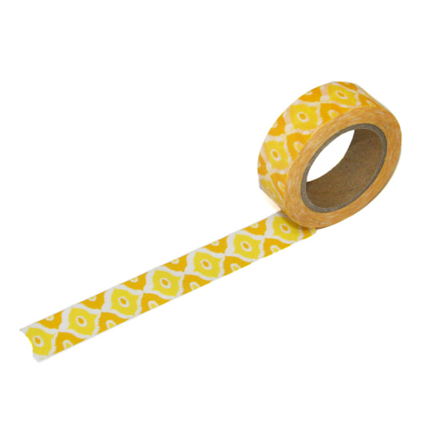 Yellow Eye Ikat Washi Tape