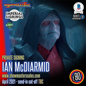 Ian McDiarmid - His first scheduled UK signing of 2021