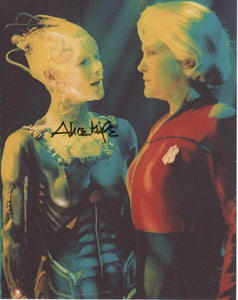 Alice Krige 10x8 signed in black