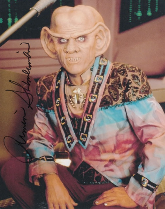 Armin Shimerman 10x8 signed in silver