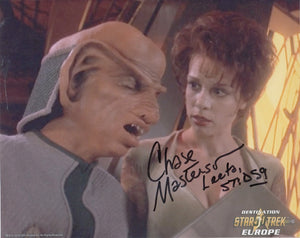 Chase Masterson 10x8 signed in black DST50 Official Picture