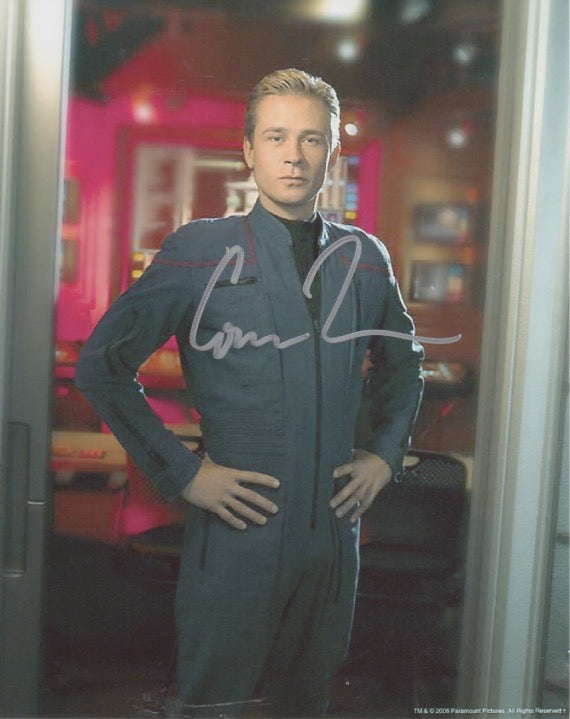 Connor Trinneer 10x8 signed in silver