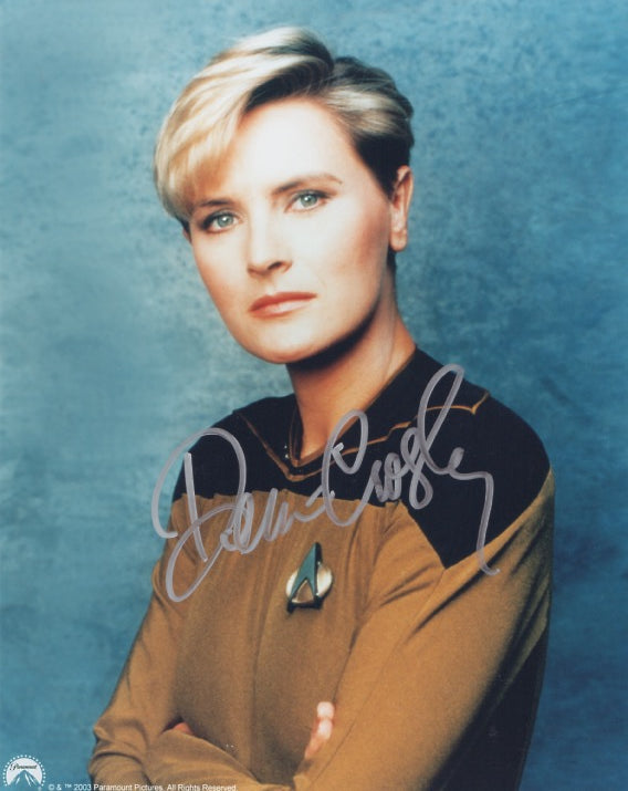 Denise Crosby 10x8 signed in silver