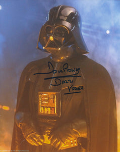 Dave Prowse  10x8 signed in blue - Image A