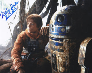 Kenny baker 10x8 signed in Blue - Image B