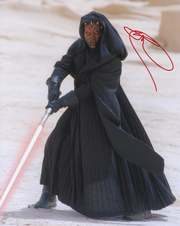 Ray Park 10x8 signed in Red