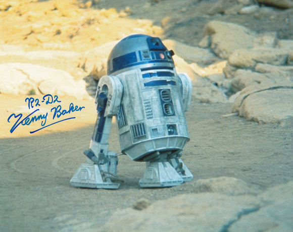 Kenny baker 10x8 signed in Blue