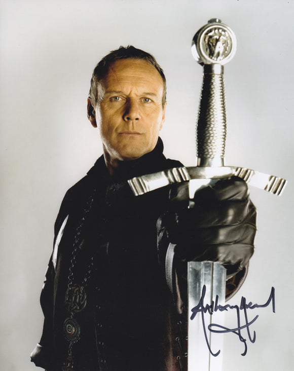 Anthony Head 10x8 signed in Black