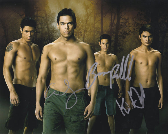 Kiowa Gordon, Chaske Spencer & Bronson Pelletier 10x8 signed in SIlver