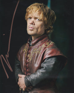 Peter Dinklage 10x8 signed in Gold