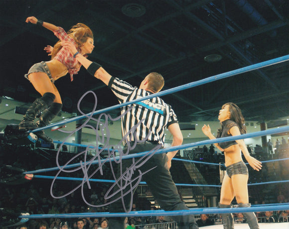 Mickie James 10x8 signed in Silver