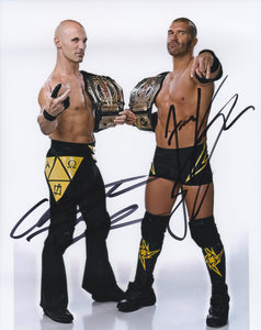 Christopher Daniels & Frankie Kazarian 10x8 signed in Black