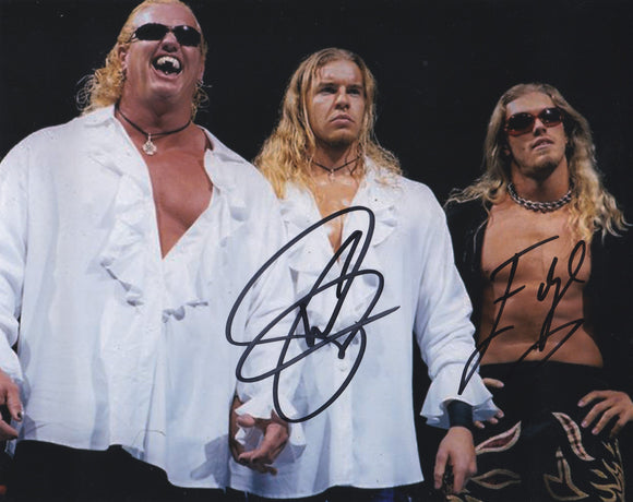 Edge and Christian 10x8 signed in Black