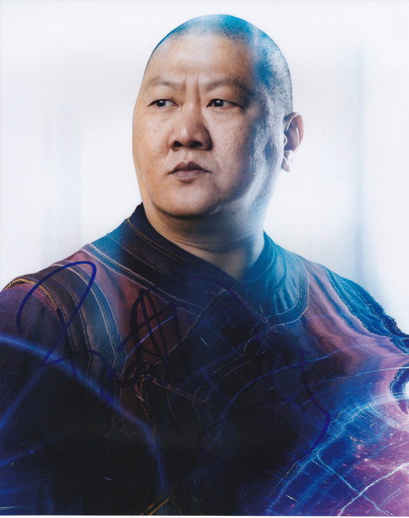 Benedict Wong 10x8 signed in Blue