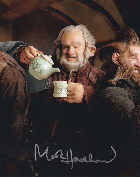 Mark Hadlow 10x8 signed in Silver