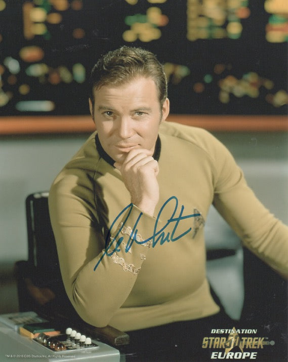 William Shatner 10x8 signed in blue DST50 Official Picture