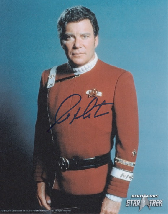 William Shatner 10x8 signed in black DST Official Picture