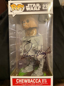 Peter Mayhew AT ST Chewbacca signed in Black Sharpie pen.
