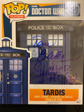 Doctor Who TARDIS signed x 3 in Blue Sharpie pen.