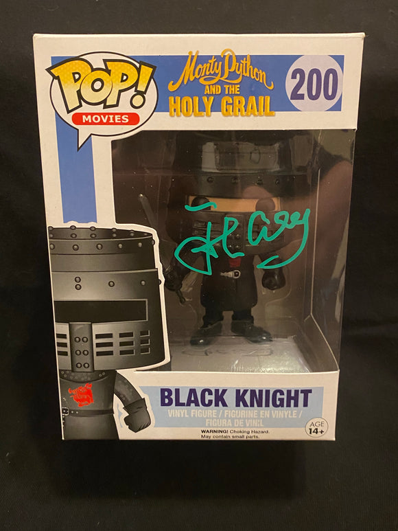 John Cleese signed Black Knight Funko signed in green paint pen.