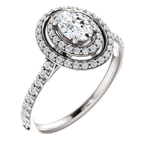 Moores Custom Made Double Halo Diamond Ring