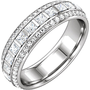 Moores Custom Made Three Row Eternity Ring