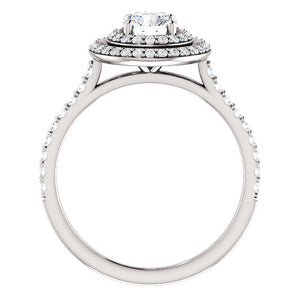 Platinum & Diamond Double Halo Ring by Moores