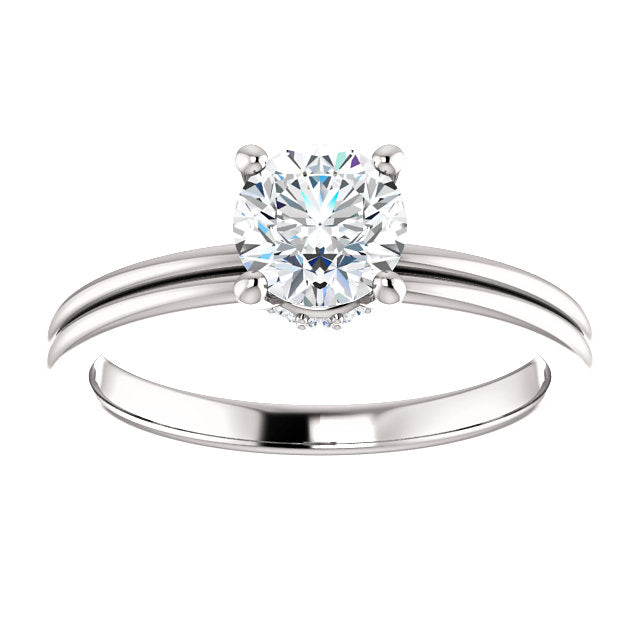 Moores Solitaire Diamond Engagement Ring with Lateral Halo