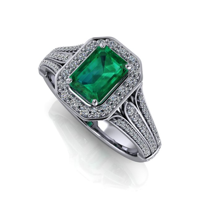 Emerald & Diamond Ring by Moores