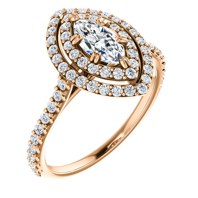 f57da5729deb9 Moores Custom Made Double Halo Style Marquise Cut Diamond Engagement Ring