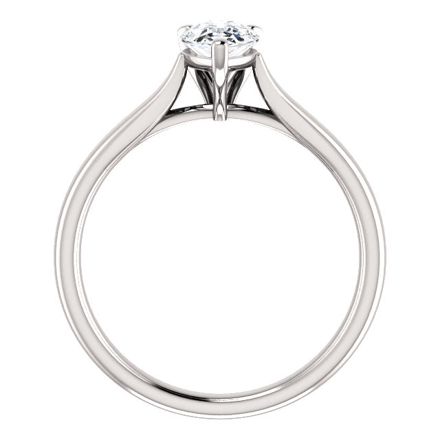 Moores Custom Made Solitaire Pear Shaped Engagement Ring