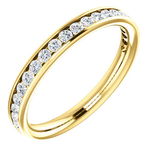Moores Custom Made Channel Set Wedding/Eternity Ring